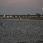 Windsurfing with full moon