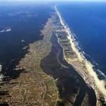 Vista aerea sobre a Costa Nova