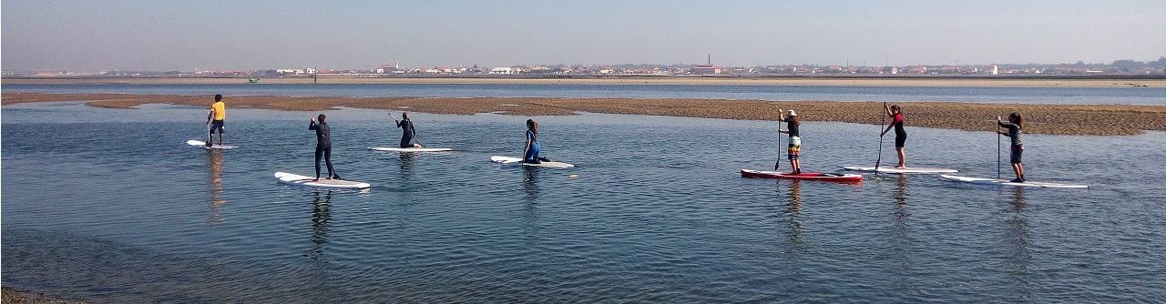 Aulas de paddle / SUP desde 2009 na ria de Aveiro