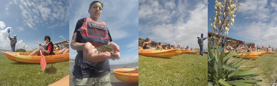 Actividades com crianças em kayak e canoagem na ria de Aveiro