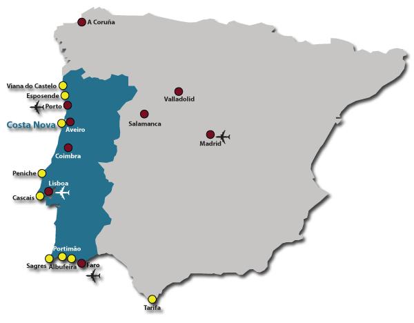 mapa aeroportos portugal How to arrive | Riactiva   Escola de Windsurf e Kitesurf mapa aeroportos portugal